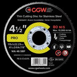 Disco de corte inox 115 x 1 mm* - CGW