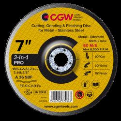 Disco de corte 3x1 - 180 x 3 mm* - CGW